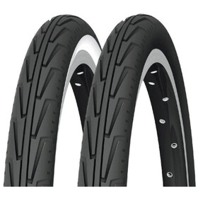 "Michelin City'J Pneu 20"" rigide, black/white"